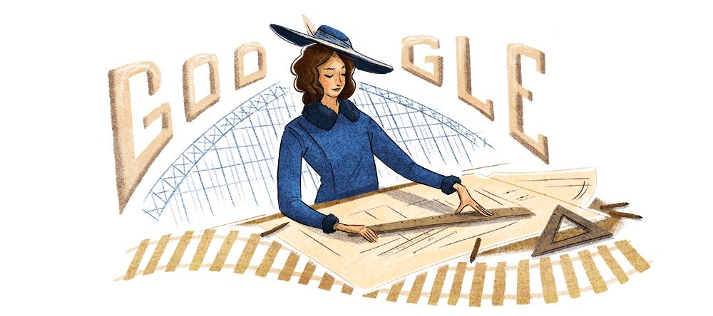 Justicia Espada Acuña's 128th Birthday Celebrating with doodle